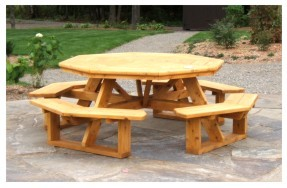 Table de picnic octagonal